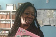 Latoiya with Toy Drive donation