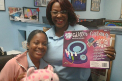 Odetta and Venus pictured with donated toys