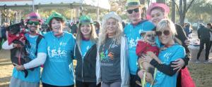 Participants at the Brain Cancer Walk