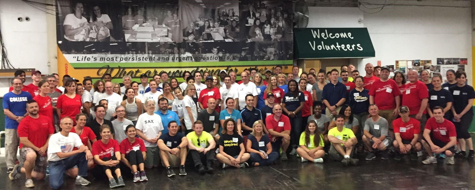 Planned Company volunteers group shot